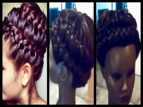 sew in updo hairstyles for prom universal sew in weave never ending braid updo prom