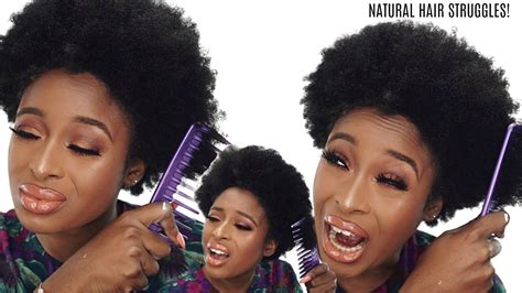 my natural hair is hard coarse too thick breaks combs part 1 youtube