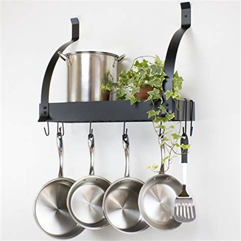 Stainless Steel Kitchen Pot Racks Contour Essentials Stainless Steel Wall Mounted Kitchen