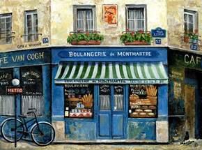Shabby Chic Duvet Covers Boulangerie De Montmartre Painting By Marilyn Dunlap