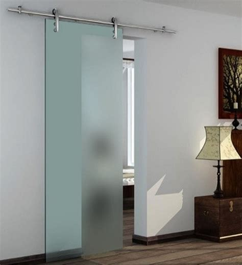 Wall Mounted Sliding Door Kit With 2m Track And Pelmet Glass Door Sliding Systems