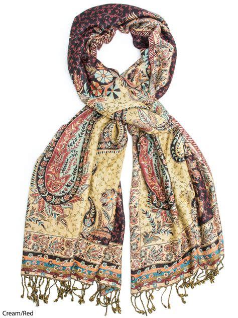 hana reversible silk pashmina scarf made in
