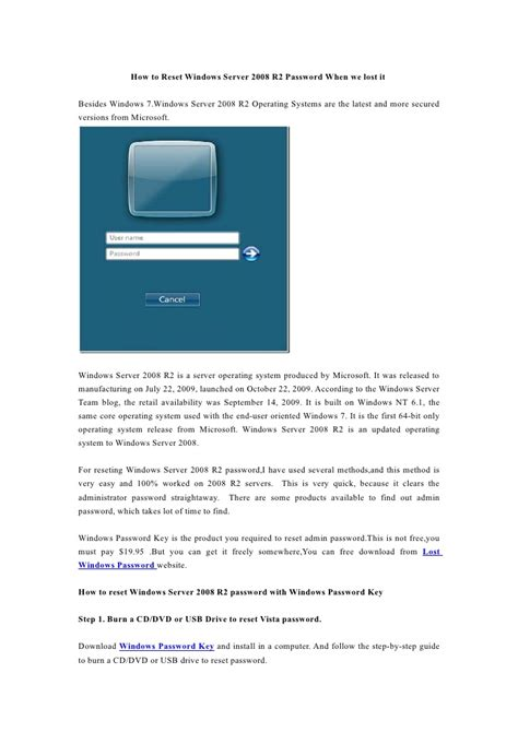 windows reset password share how to reset windows server 2008 r2 password when we lost it
