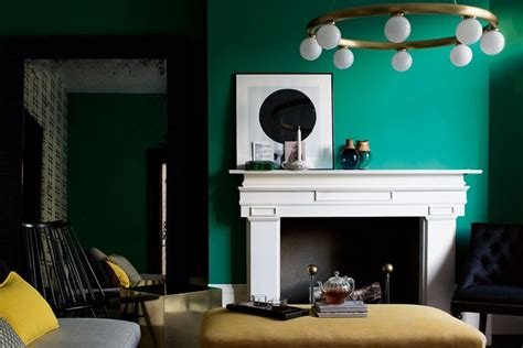 emerald green living room wall paint colour ideas houseandgarden co uk