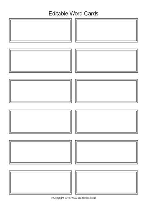 word label template 12 per sheet editable word cards black and white 12 per page