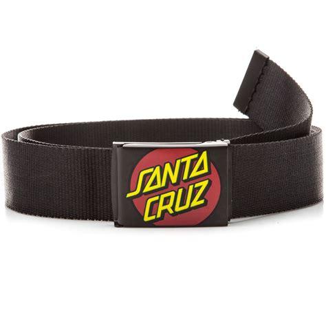 santa cruz classic dot web belt black