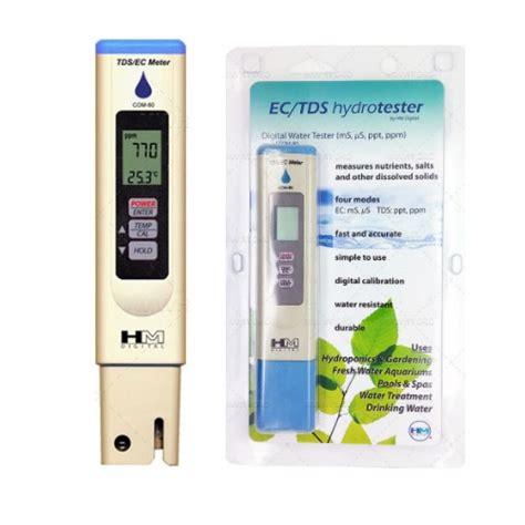 Tds Ec Meter Untuk Ber Hidroponik tds ec meter 80 hm digital bibitbunga