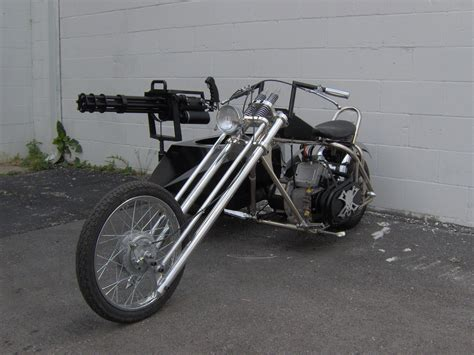 50ccm Motorrad Mit Beiwagen by Mini Gun Chopper Motorcycle Sidecar Strange Brew 1000