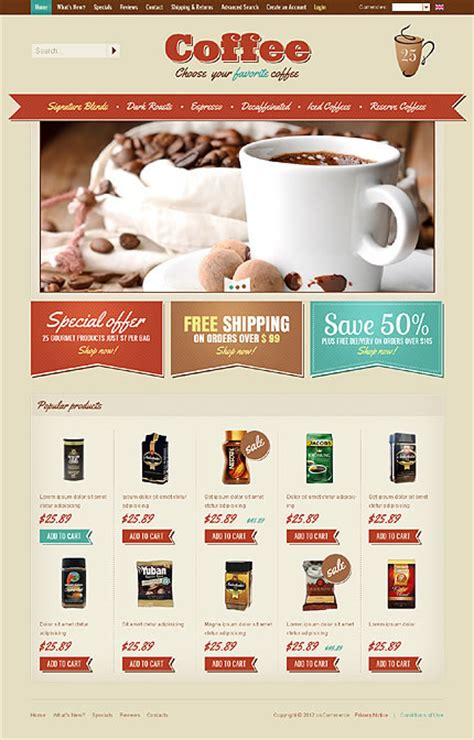 Tasteful Coffee Website Template Designs For Your Inspiration Entheos Free Coffee Website Templates