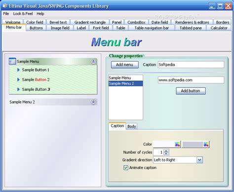 java swing gui components visual java swing components library download