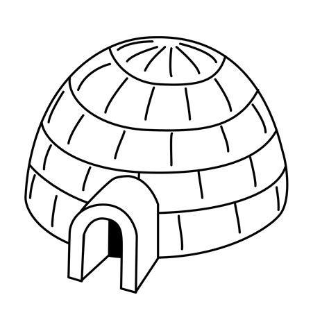 igloo coloring page free free coloring pages of on igloo
