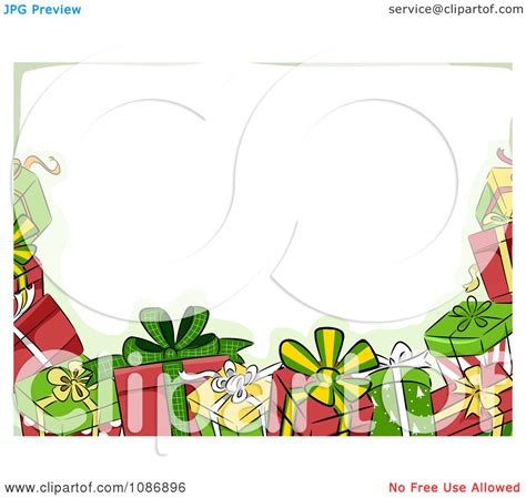 Border Clipart 1255757 Illustration By by Clipart Border Of Gifts And Green Royalty Free