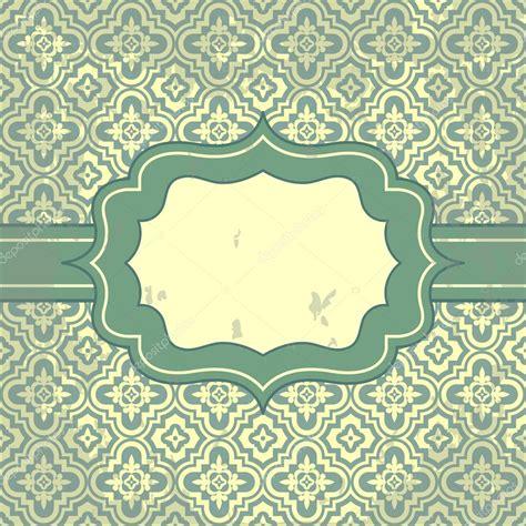 pattern frame illustrator vector vintage pattern and frame for design stock vector