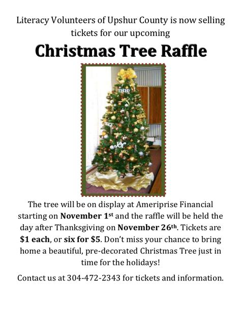 christmas tree raffle flyer