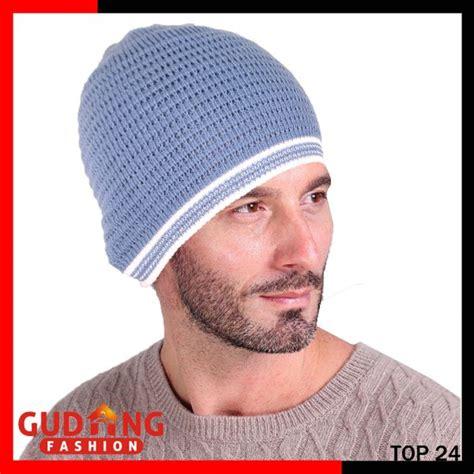 Kupluk Polos Biru Muda topi kupluk rajut remaja rajut abu top 24 gudang fashion