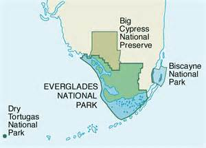 map of south florida national parks 1994
