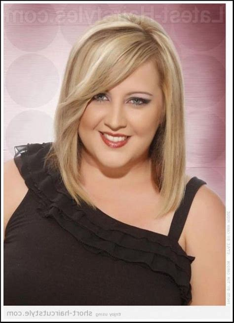 double bob haircut short hairstyles for fat faces and double chins http
