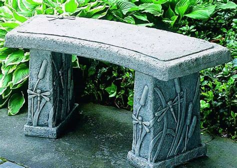 garden bench stone concrete eye catching concrete garden benches garden and lawn