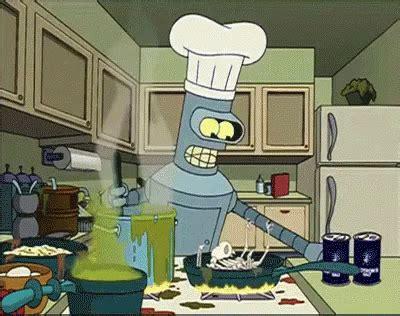 Cooking Gif bender cooking salty gif salty salt futurama