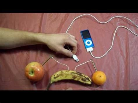 fruit electricity how to charge an ipod with fruits cool science fair