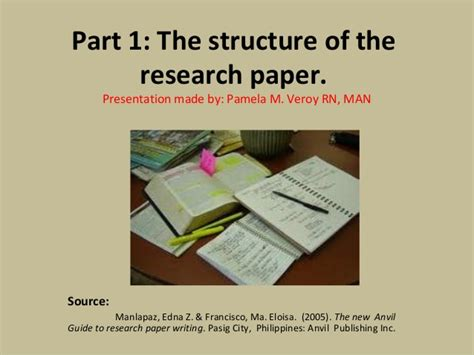 structure of research paper the structure of the research paper