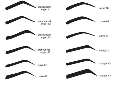 printable eyebrow stencils 6 best images of eyebrow template stencil printable