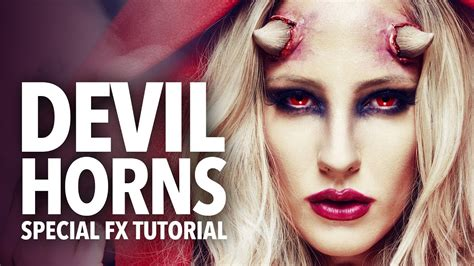 fx tutorial makeup awesome devil horns fx makeup tutorial youtube