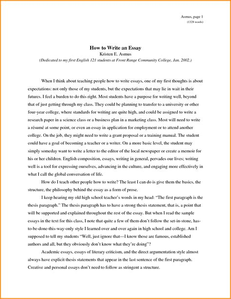 How To Write College Essay About Yourself by An Essay About Yourself