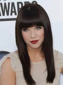 hair bangs blunt square adorable hairstyles that can easily charm your long face