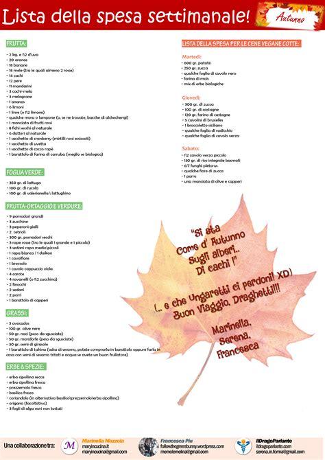 lista spesa alimentare lista della spesa ricette crudiste e vegane per la prova