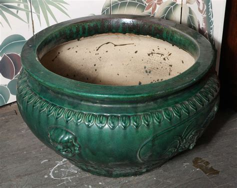 Large Glazed Pottery Planters by Antique Large Glazed Ceramic Planters Hunan Province At