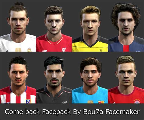 download hairstyles pes 2013 pes 2013 come back face pack by bou7a facemaker pes patch