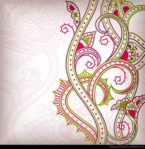 abstract pattern c abstract floral pattern background 02 vector vector download