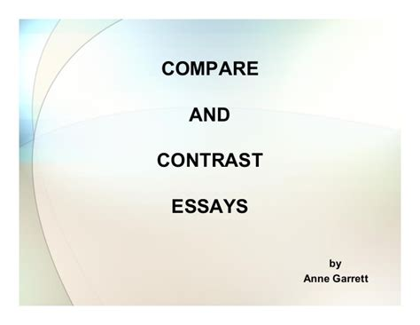 Compare Contrast The Olsens Vs The Trainas by Compare And Contrast Essay By Garett