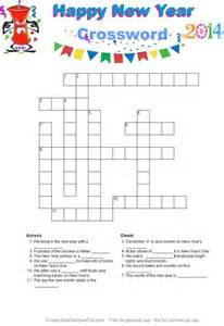 4 best images of happy new year crossword puzzle printable