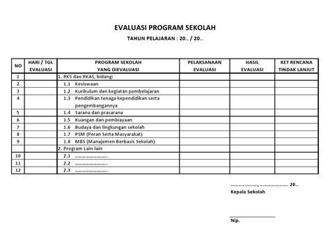 format buku tamu wali murid buku evaluasi program sekolah sekolah dasar negeri 125543