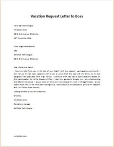 Request Letter To Manager Vacation Request Letter To Writeletter2