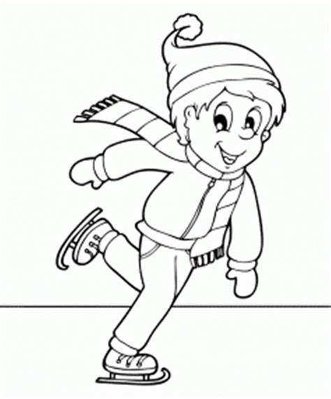 ice skating coloring pages to download and print for free