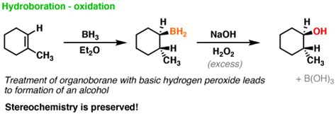 hydration of cyclopentene hydroboration of alkenes master organic chemistry