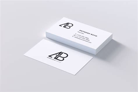business card a4 template psd free modern business card psd mockup pixelify best