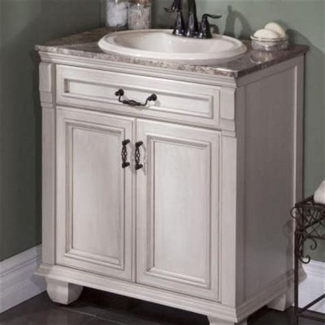 St Paul Bathroom Vanity by St Paul Classic 30 In Vanity In Antique White With