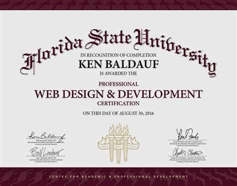 Web Design Development Certificate Online | elitism info page 4 of 107 certificate template free
