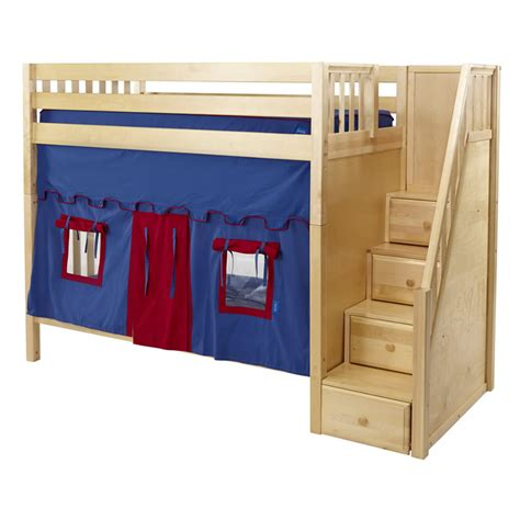 Whopper High Playhouse Bunk In Natural With Stairs By
