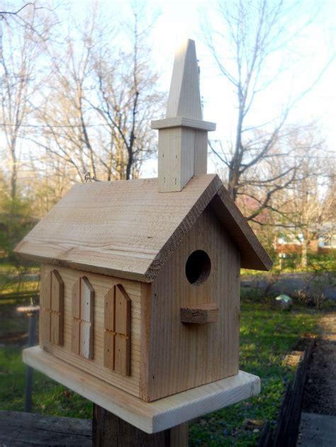 birdhouse  nest church handcrafted folk art primitives