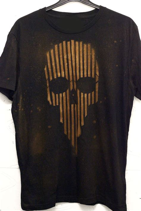 bleaching skull t shirts our first attempt