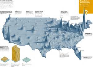 elevation map eastern us population distribution of usa the big picture