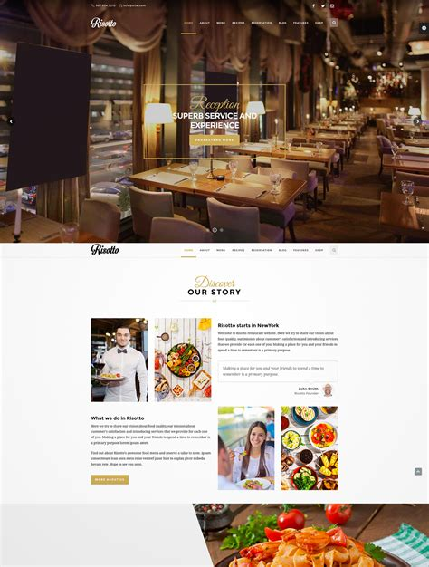 wordpress restaurant layout 30 outstanding premium restaurant wordpress themes
