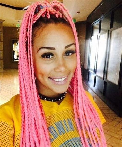 pink black n blonda braids pink box braids google search bradiz pinterest