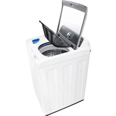 samsung 4 8 cu ft high efficiency top load washer with activewash in white energy