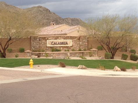 calabrea subdivision homes in ahwatukee foothills reserve